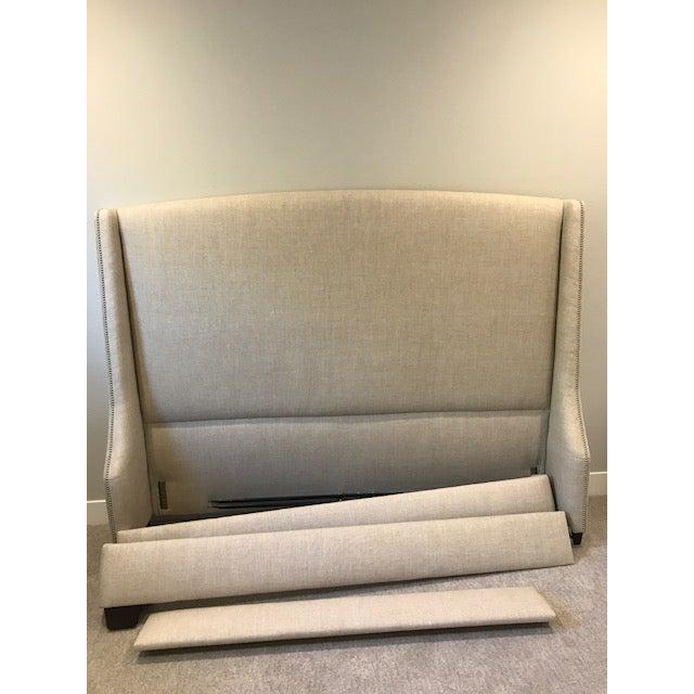 Restoration Hardware Warner Nailhead Upholstered King Bed - Image 2 of 3