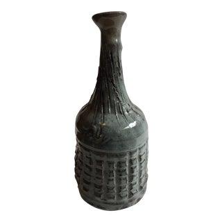 Hand Thrown Grey Ceramic Vase