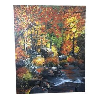 """Sally Joseph """"Colorado Autumn"""" Acrylic Painting"""