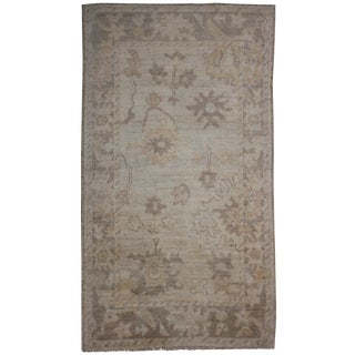 "Aara Rugs Inc. Hand Knotted Oushak Rug - 4'11"" x 2'11"""