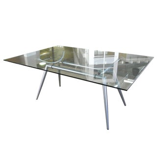 Metal & Glass Dining Table