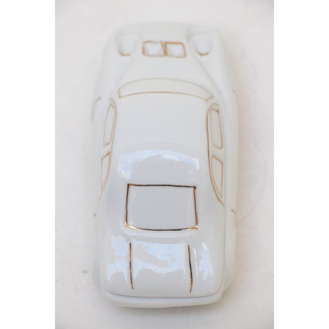 White Porcelain Car-Shaped Stash Box - Image 5 of 6