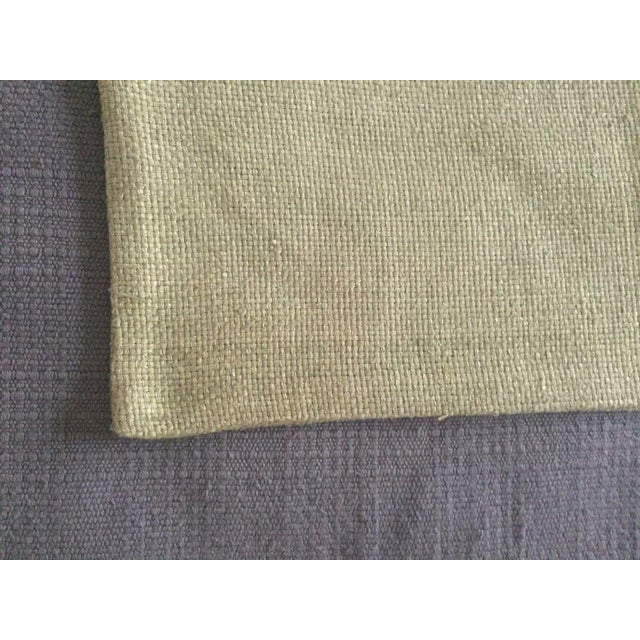 West Elm Green Tea Hand Loomed Silk Pillow Cover - Image 4 of 11