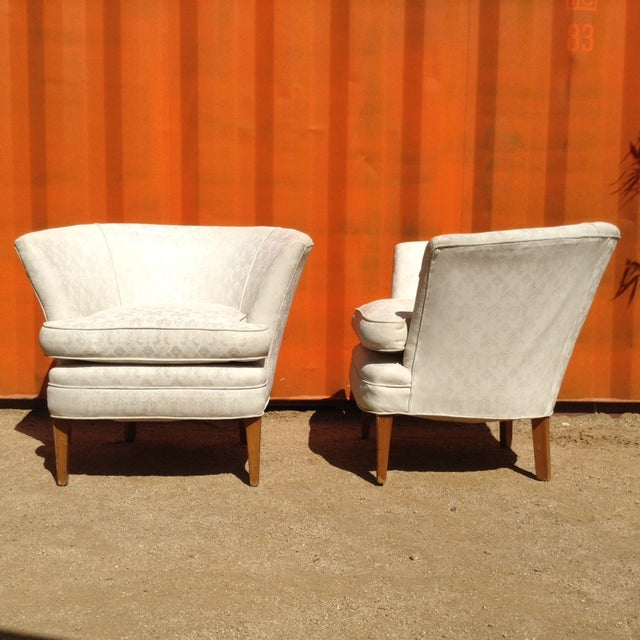 1960's Burbank Home Bespoke Arm Chairs - Pair - Image 3 of 3