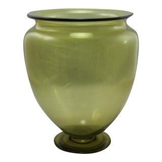 Steuben Clear Chartreuse Vase
