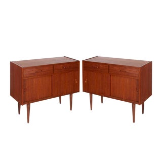 Mid Century Teak Cabinets, Pair