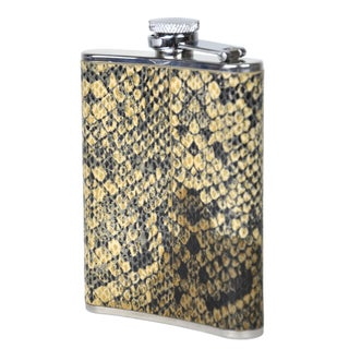Vintage Python & Steel Flask