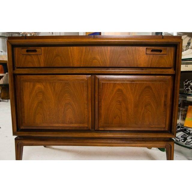 Image of Mid-Century Custom Flip-Top Bar Cabinet