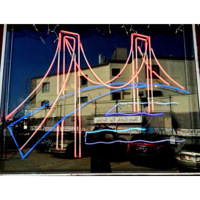 Image of Vintage Golden Gate Bridge Neon Sign