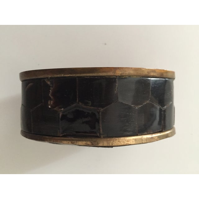 Vintage Bone and Brass Oval Trinket Box - Image 5 of 7