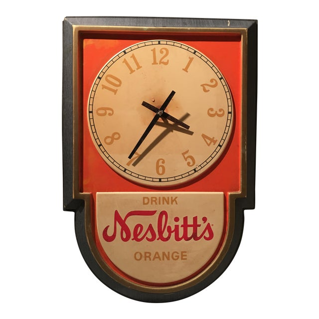 Vintage Nesbitts Orange Soda Clock - Image 1 of 7