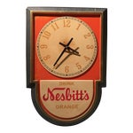 Image of Vintage Nesbitts Orange Soda Clock