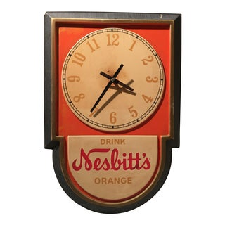 Vintage Nesbitts Orange Soda Clock
