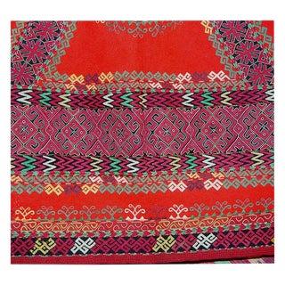 Antique Karakalpak Silk Embroidery Headdress