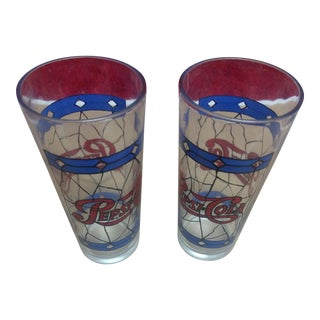 Vintage Pepsi Glasses - A Pair