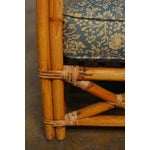 Image of Art Deco Rattan Lounge Chairs - Pair