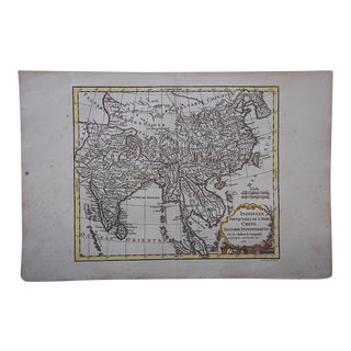 Antique 18th C. Map-France-India-China-S.E. Asia