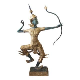 Thai Prince Rama Bronze Garden Statue