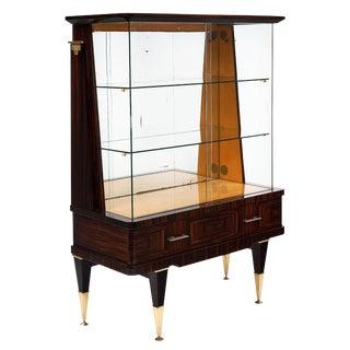 Mid-Century Modern French Macassar Bookcase