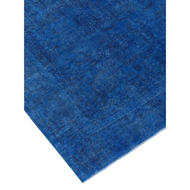 "Blue Vintage Overdyed Rug - 9' 5"" X 11' 5"" - Image 2 of 3"