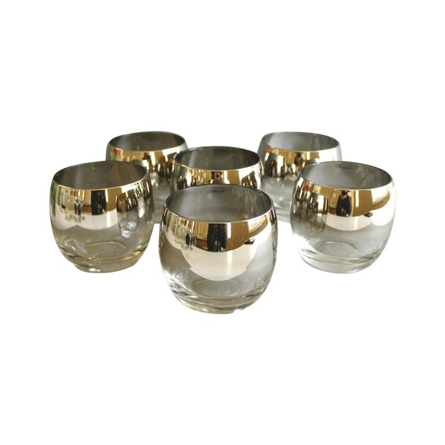 Mid-Century Silver Ombre Roly Poly Glasses - Image 1 of 4