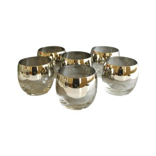 Mid-Century Silver Ombre Roly Poly Glasses