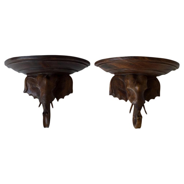 Contemporary Carved Wall Brackets - a Pair - Image 1 of 3