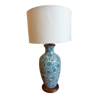Green and White Table Lamp