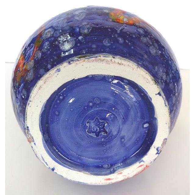 Multi-Colored Glazed Ceramic Vase by Gary Fonseca - Image 7 of 8