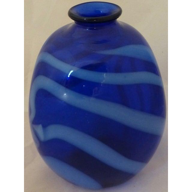 Mid Century Modern Studio Glass Vase - Image 4 of 8