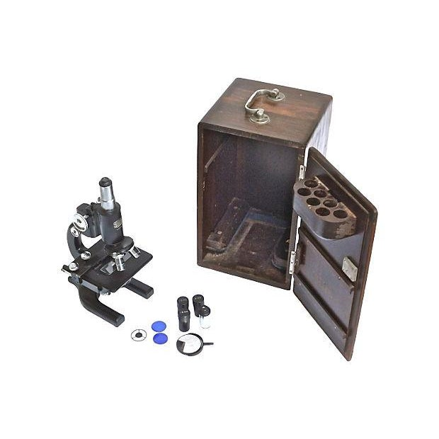 Image of Vintage Spencer Microscope & Case