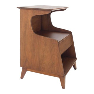 Heritage Henredon Walnut Nightstand End Table