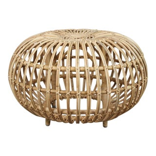 Rattan Ottomans by Franco Albini