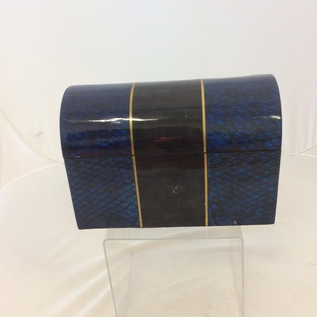 Maitland- Smith Lapis & Penshell Box - Image 2 of 11