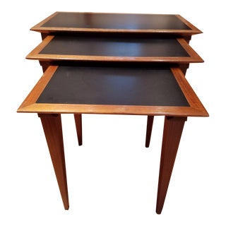Mid-Century Modern Teak Nesting Tables - Set of 3