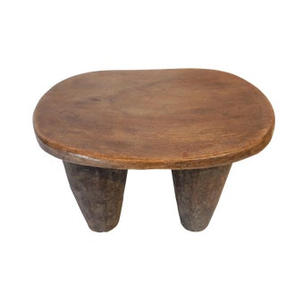 African Senufo Low Milk Stool I Coast