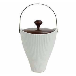 Ernest Sohn Porcelain & Walnut Ice Bucket