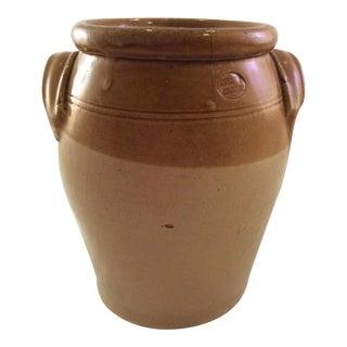 1890's Rustic English Stoneware Crock