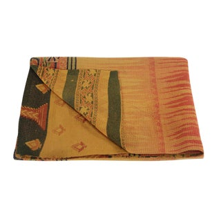 Tropical Vintage Kantha Throw