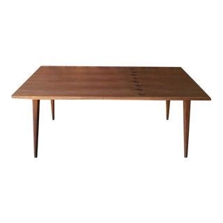 Mid-Century Style Walnut Dining Table