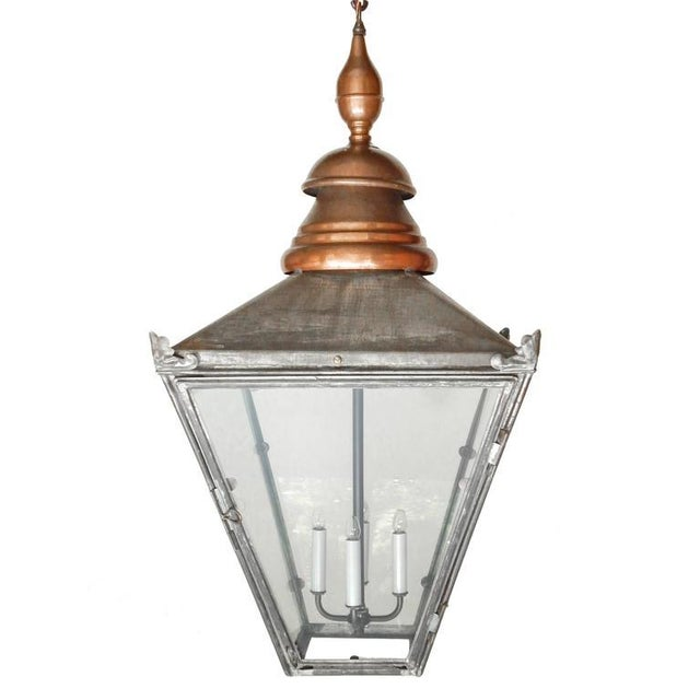Large Copper and Zinc French Lantern - Image 2 of 8