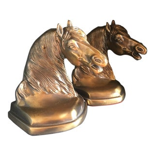Brass Equestrian Bookends - A Pair