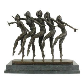 Art Nouveau Bronze Dancers Sculpture