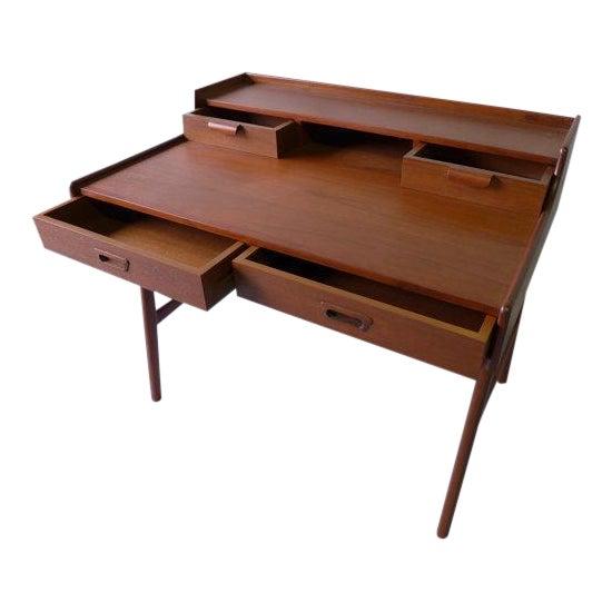 MidCentury Modern Writing Desk Chairish - Contemporary writing desk furniture