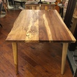 Image of Hand Crafted Salvage Tropical Wood Dining Table