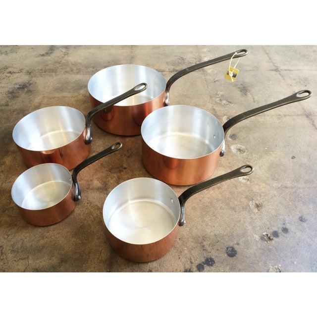 1960's Vintage French Copper Pot Set - 5 Pcs - Image 2 of 7