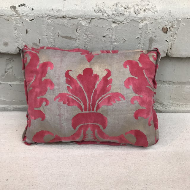 Pink & Metallic Gold Fortuny Pillow - Image 2 of 4