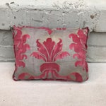 Image of Pink & Metallic Gold Fortuny Pillow