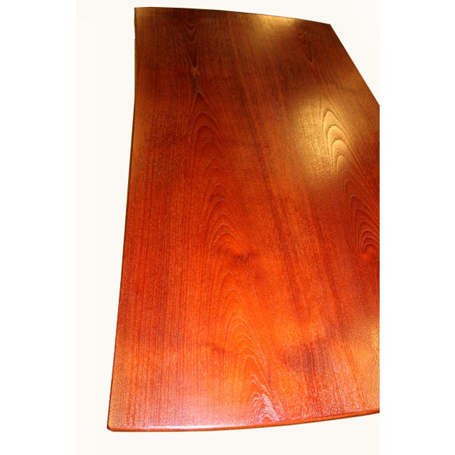 1960s Danish Mid-Century Rosewood Desk with Curved Top - Image 6 of 8