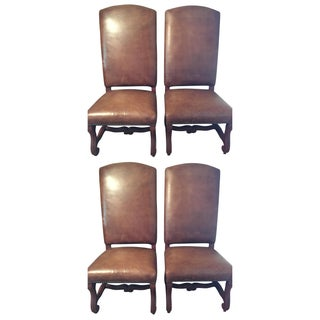 Ralph Lauren Leather Dining or Accent Chairs - S/4